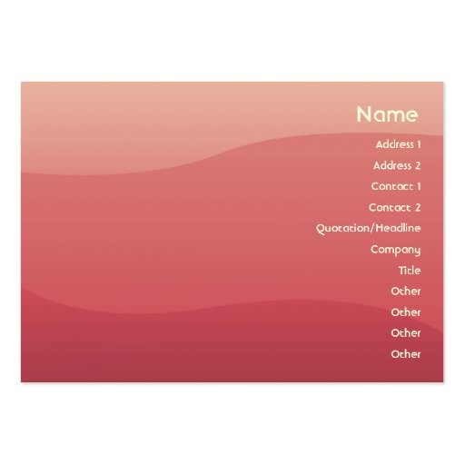 Ondas del rosa - rechonchas tarjeta de negocio