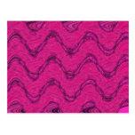 ondas del rosa tarjetas postales