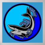 Ondas del tiburón impresiones