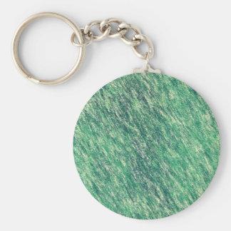 Ondas del verde llavero redondo tipo pin