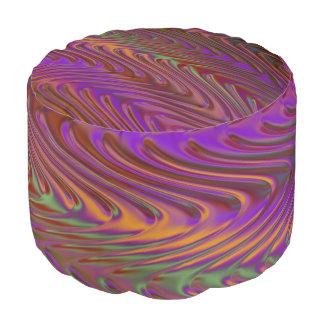 Ondas del zigzag coloreadas + sus ideas puf redondo