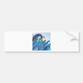 Ondas do Mar Bumper Stickers