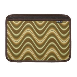 ondas elegantes del oro fundas macbook air
