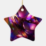 Ondas en colores ornamentos de navidad