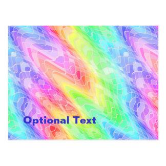 Ondas en colores pastel de la raya tarjeta postal