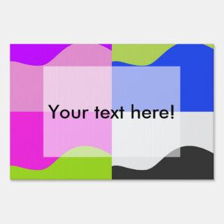 Ondas en cuadrados carteles