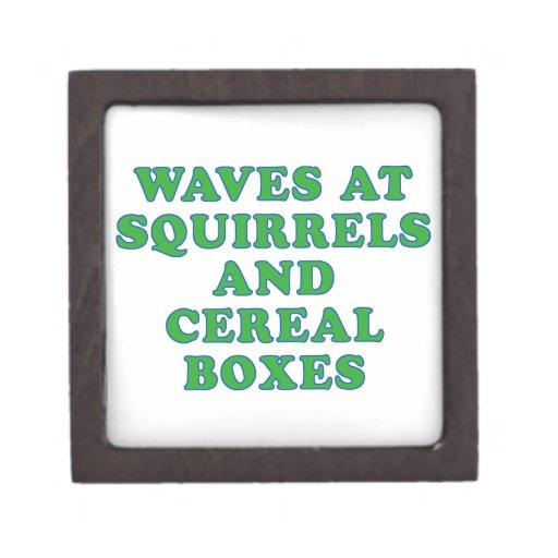 Ondas en las ardillas y las cajas de cereal caja de regalo de calidad