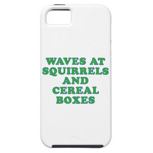 Ondas en las ardillas y las cajas de cereal iPhone 5 carcasas