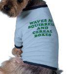 Ondas en las ardillas y las cajas de cereal camisetas mascota