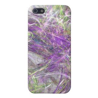 Ondas en púrpura y verde iPhone 5 carcasas