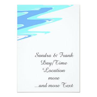 ondas felices suaves invitación 12,7 x 17,8 cm