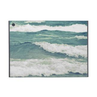 Ondas hermosas retras de la resaca de la playa del iPad mini fundas