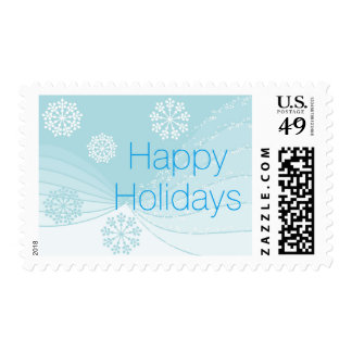 Ondas ligeras del copo de nieve sello postal