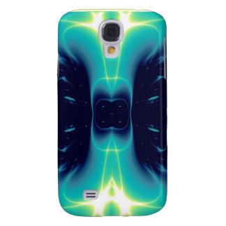 ONDAS LIGERAS, negro azul del turquase Funda Para Galaxy S4