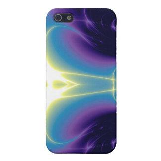 ONDAS LIGERAS, púrpura azul del turquase iPhone 5 Carcasa