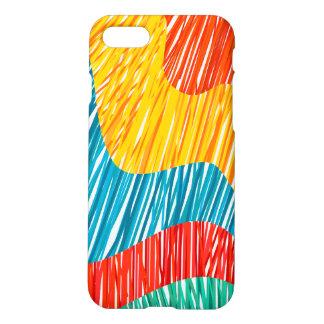 Ondas modernas del color de Abtract Funda Para iPhone 7