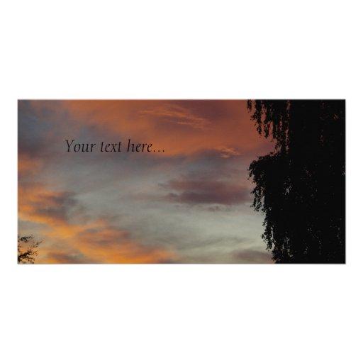 Ondas nubladas tarjetas fotograficas
