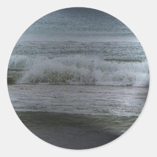 ondas pegatina redonda