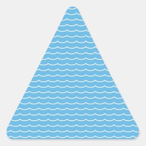 Ondas Pegatina Triangular