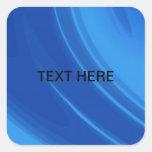 Ondas personalizadas del azul real pegatina cuadradas personalizada