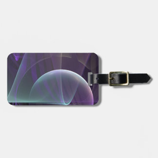 Ondas púrpuras del dolor etiqueta de equipaje