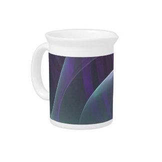 Ondas púrpuras del dolor jarrón