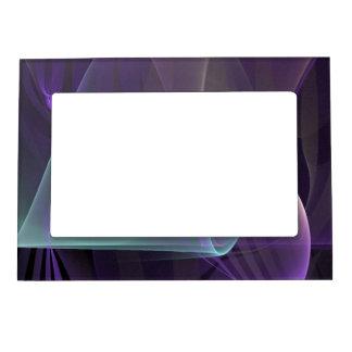 Ondas púrpuras del dolor marcos magnéticos para fotos