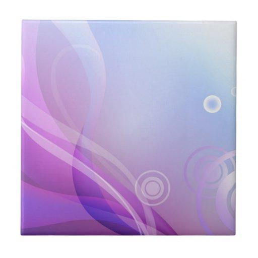 Ondas púrpuras tejas