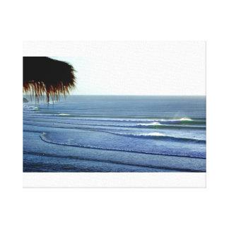 Ondas que practican surf adaptación la lona de Bal Impresión En Lienzo