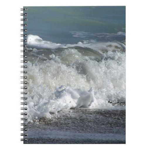 Ondas que se estrellan en la playa de la Florida Libros De Apuntes
