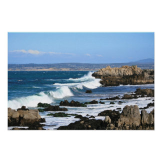 Ondas que se estrellan foto de la Costa del Pacíf Impresiones