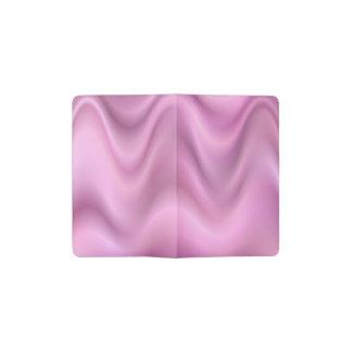 Ondas rosadas del extracto funda para libreta y libreta pequeña moleskine