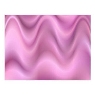 Ondas rosadas del extracto tarjetas postales
