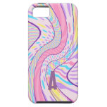 Ondas rosadas y de la púrpura abstractas iPhone 5 Case-Mate funda
