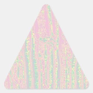 Ondas sensuales rosadas azules de los tubos n de pegatina triangular