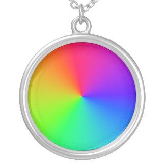 Ondas sinusoidales de la circular del arco iris colgante redondo