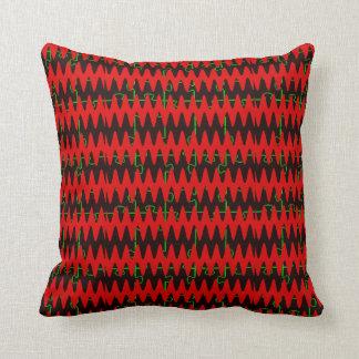 Ondas sinusoidales rojas del rompecabezas almohadas