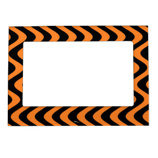 Ondas temblorosas (naranja/negro) foto de imanes