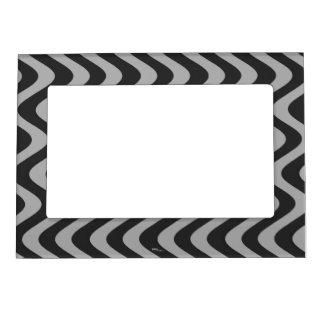 Ondas temblorosas (negro/gris) marcos magneticos de fotos