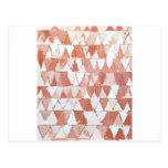 Ondas triangulares de la sepia y del blanco postal