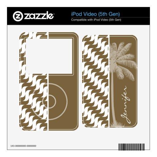 Ondas tropicales de Brown iPod Video Skins