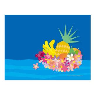Ondas tropicales de la flor postal