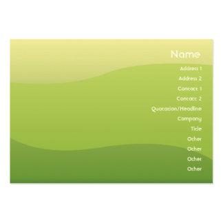Ondas verdes - Chubyy Tarjetas De Visita