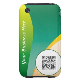 ondas verdes de la plantilla del caso del iPhone iPhone 3 Tough Fundas