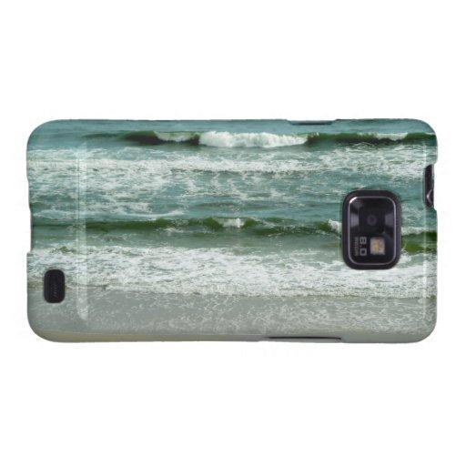 Ondas verdes esmeralda en la playa la Florida de c Galaxy S2 Fundas