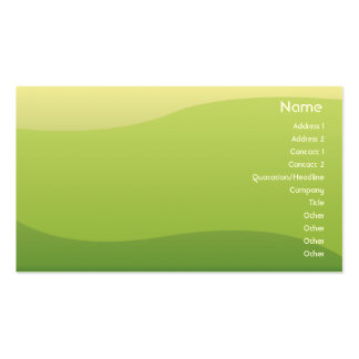Ondas verdes - negocio plantilla de tarjeta personal