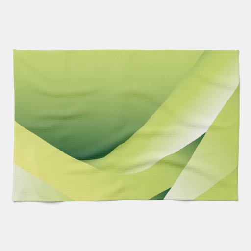 ondas verdes toalla de mano