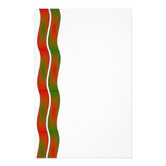 Ondas verdes y del rojo papeleria
