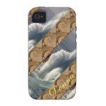 Ondas y arena Case-Mate iPhone 4 carcasa
