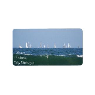 Ondas y Boats_ Etiquetas De Dirección